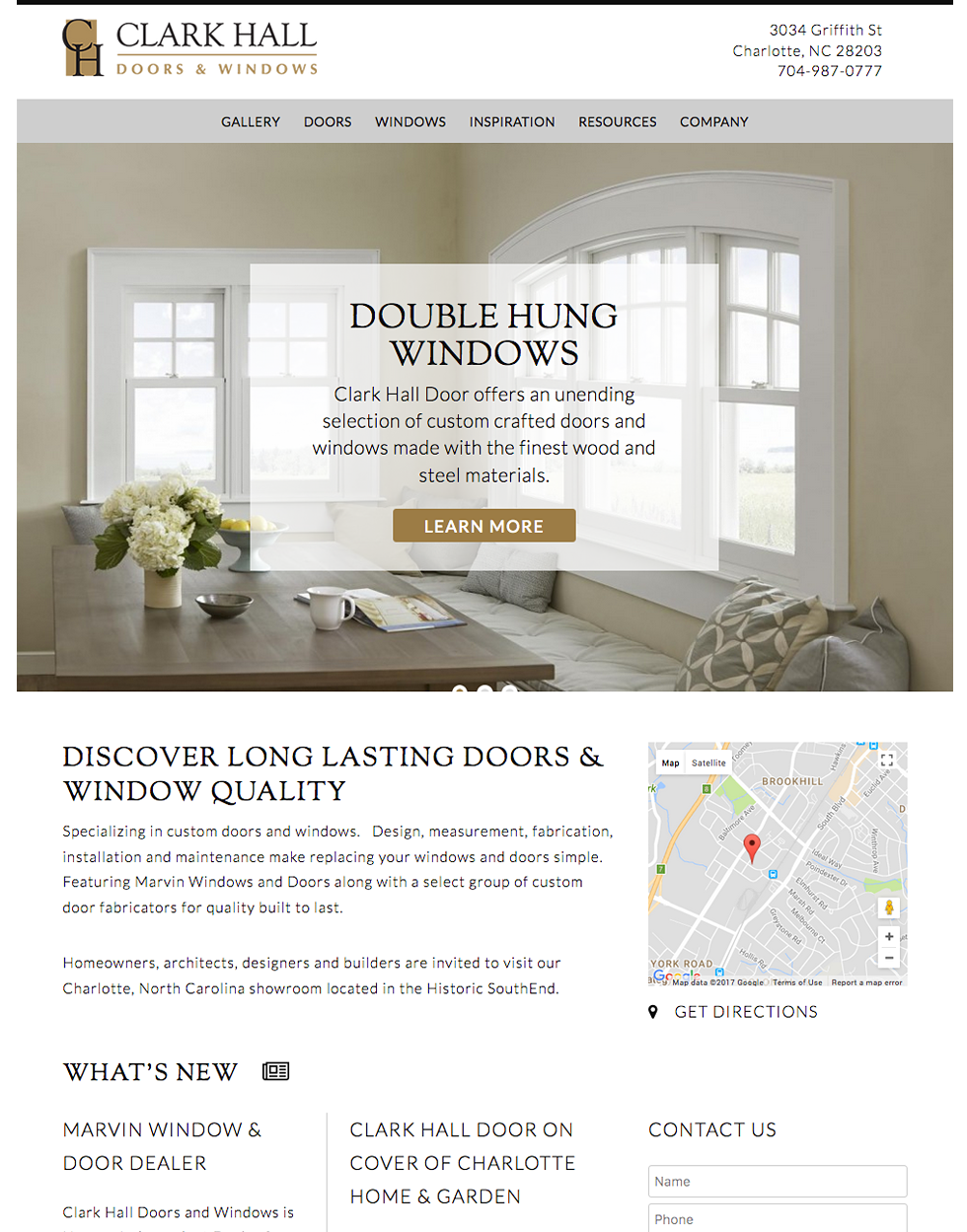 Home Doors and Windows Website Design and Web Development