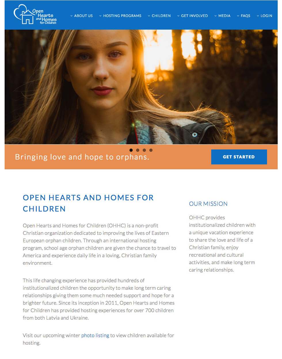 Open Hearts and Homes for Children