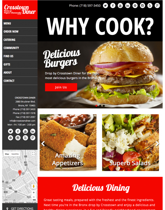 Website Design of Restaurant Web Redesign