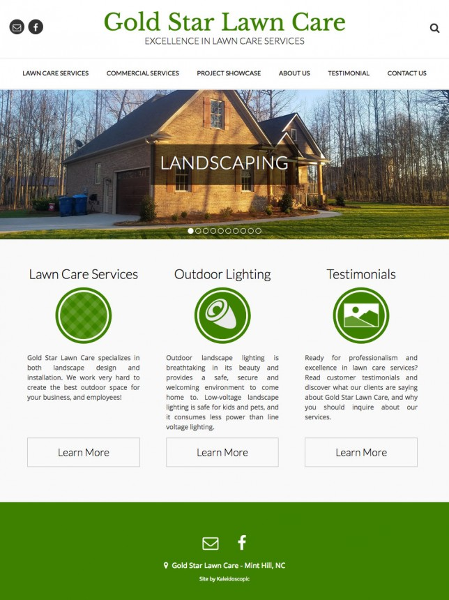 Website Design of Gold Star Lawn Care