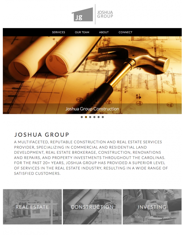 Website Design of Joshua Group