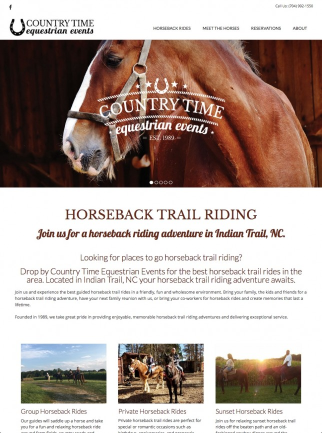 Website Design of Equestrian Website Design